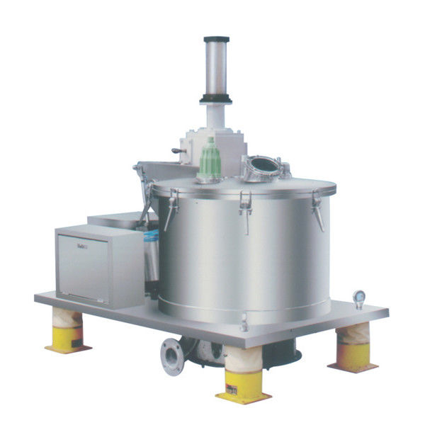 Stainelss Steel Scraper Bottom Discharge Basket Centrifuge / Continuous Flow Centrifuge